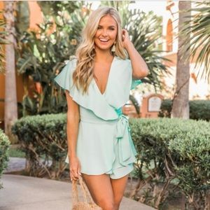 Best Kind Of Night Mint Romper (SOLD OUT STYLE)